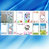 PET color cute cartoon screen protector for iphone