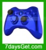 Chrome Blue Replacement Shell For Xbox 360 Wireless Controller With Inserts