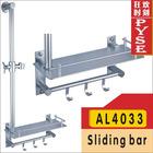 AL4033 fashoion aluminum sliding bar, hand shower set, rail set,shower set