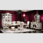 New classic european white wood dining room sets NB-3059