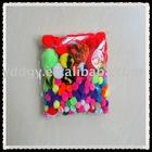 supply Acrylic poms 10 colors ,---100pcs/opp bag