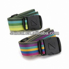 travel colorful luggage belt