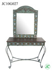 Modern metal folding dressing table for interior decorators