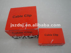 plastic circle cable nail clips