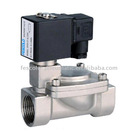 High temperature electric solenoid water valve