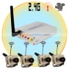 2.4GHz wireless security camera with Receiver( 4 Cameras )