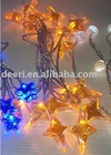 10L Yellow Star LED String Lights