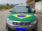 2014 FIFA Brazil flag/ promotional high quality Engine hood cover/car hood cover