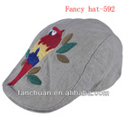 fancy new design beret hat with embroidery logo