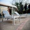 summer beach Aluminum Outdoor rattan sun lounger