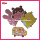 OEM cute cartoon shape greeting cards printing