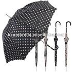 "23"" X8K stick auto open polka dot design fibreglass windproof umbrella parapluie,paraguas,guarda-chuva,semsiye,vihmavari,paraplu"