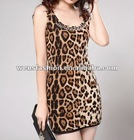 ladies leopard vest/fashion summer tank tops for women