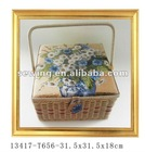 Fashion Wood Basket(13417-t656)