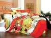 100% Cotton 4pcs/set fruit funny orange bedding set
