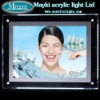 Acrylic light in the box for advertising