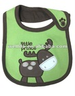 100% cotton cute embroidered deer baby bibs