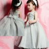 Floral Appliqued Bodice A-line 2012 Flower Girl Dress