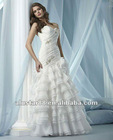 2013 New Style Strapless Sweetheart Organza Mermaid Wedding Dresses Bridal Gowns With Beads