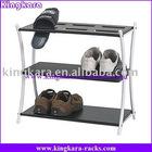 KingKara KASDR024 Modern Shoe Rack in Metal