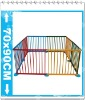 Square folded Wooden Baby Playpen/colorized playpen