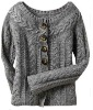 pure wool button open front ladys sweater