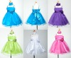Satin and Ruffled Tulle Little Queen Flower Girl Dress with Shawl