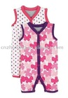 2012 fashion cotton cute printing dot Baby rompers,baby wear