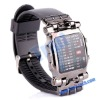 New Rubber Strap Unisex LED Watch with Colorful Lighting Display, LED Display Watches