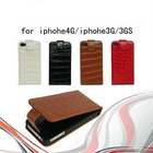 leather case for iphone4gs/iphone4,crocodile pattern,fashionable design