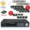 16 CH H.264 Surveillance CCTV Outdoor IR CCD Camera DVR Video System