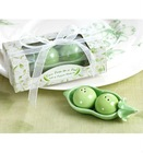 Two Peas in a Pod Wedding Favors for Ceramic Salt & Pepper Shakers