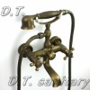 SYY-F0272 Eurostyle Classic Design Wall Mounted with Clawfoot dual handle Anti-brass Bathtub Faucet With Handheld Shower