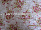 New fashion printed lace fabric