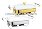 rectangular Ceramic porcelain chafing dish hot pot