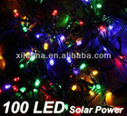 100 LED Solar Power Colorful String Fairy Light Lamp Outdoor Xmas Wedding Party