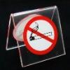 acrylic ban stand