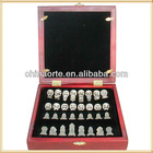 Pretty Crystal Chess Model With Wooden Chess Board
