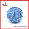Best quality Lt.Sapphire shamballa inspired beads 10mm