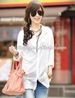 Ladies' fashion long linen blouses(H306D)