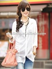 Ladies' fashion long linen blouses(H306D)