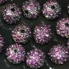 Bulk sales shamballa pave crystal ball beads,loose shamballa crystal disco ball alloy beads
