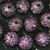 Bulk sales shamballa pave crystal ball beads,loose shamballa crystal disco ball alloy beads
