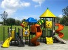 Plastic outdoor playground equipment with typhoon slide