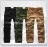 Men's 100% Cotton Multi Pockets Casual Cargo Pants With Belt