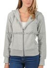 Ladies' plain colored zip up hoodies