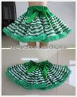 Baby Wholesale Christmas Green Stripe Pettiskirt