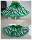 Baby Wholesale Christmas Green Stripe Pettiskirt