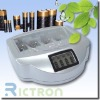 Non-rechargeable or rechargeable alkaline battery charger supported NI-MH,NI-CD,ALKALINE,AAA,AA,9V,C,D,N 04