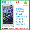 In stock_Umi X1_4.5 inch 1280x720 IPS Screen_ MTK6577 dual-core Android 4.0_2.0+8.0MP Camera_GSM+3G WCDMA_Smartphone